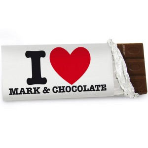 Personalised I HEART Milk Chocolate Bar