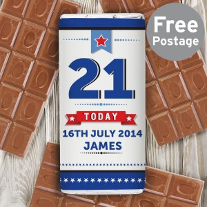 Personalised Birthday Star Milk Chocolate Bar