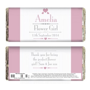 Personalised Decorative Wedding Female Milk Chocolate Bar