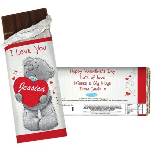 Personalised Me to You Big Heart Milk Chocolate Bar