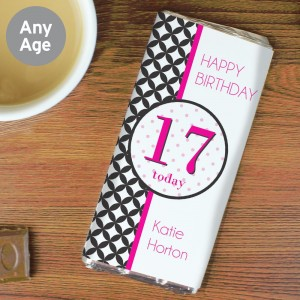 Personalised Harlequin Milk Chocolate Bar