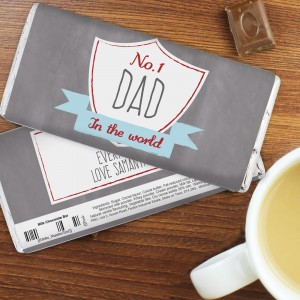 Personalised No.1 Shield Milk Chocolate Bar