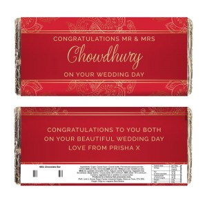 Personalised Paisley Wedding Milk Chocolate Bar