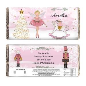 Personalised Sugar Plum Fairy Milk Chocolate Bar