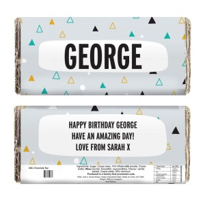 Personalised Geo Milk Chocolate Bar
