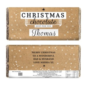 Personalised Christmas Milk Chocolate Bar