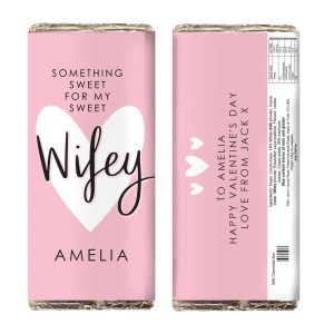 Personalised My Sweet Wifey Milk Chocolate Bar