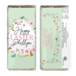 Personalised Easter Springtime Milk Chocolate Bar