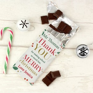 Personalised Thank You Milk Chocolate Bar