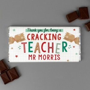 Personalised Cracking Teacher Milk Chocolate Bar