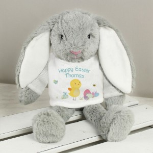 Personalised Easter Meadow Bunny Rabbit In T-Shirt