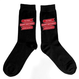 Personalised Banner Design Mens Socks