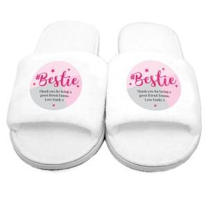 Personalised #Bestie Slippers