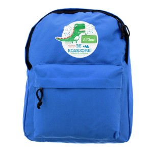 "Personalised ""Be Roarsome"" Dinosaur Backpack"