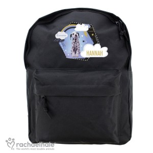 Personalised Rachael Hale Dalmatian Black Backpack