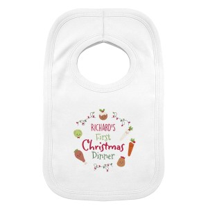 "Personalised ""First Christmas Dinner"" Bib"