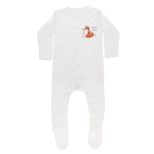Personalised Mummy and Me Fox 0-3 Months Babygrow