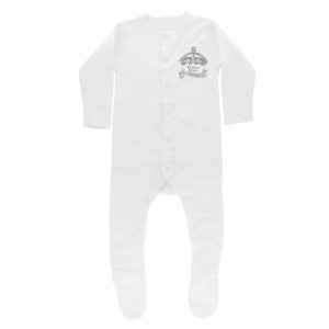 Personalised Royal Crown 0-3 Months Babygrow