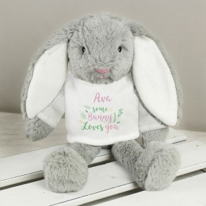 "Personalised ""Some Bunny Loves You"" Bunny Rabbit"