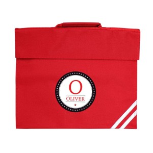 Personalised Initial Red Book Bag