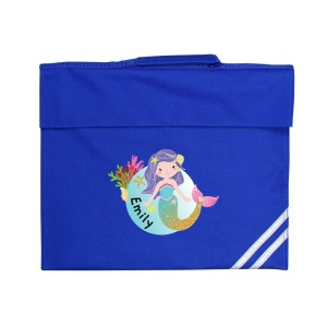 Personalised Mermaid Blue Book Bag