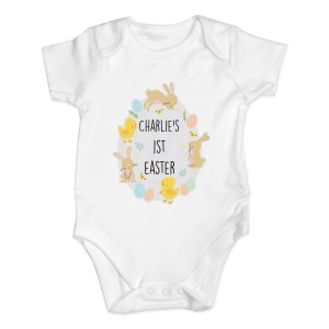 Personalised Easter Bunny & Chick Baby Vest