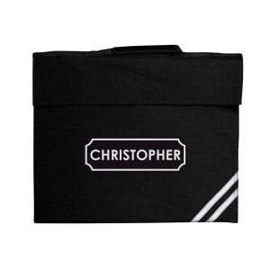 Personalised Name Only Black Book Bag