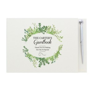 Personalised Fresh Botanical Hardback Guest Book & Pen