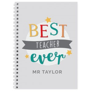 "Personalised ""Best Teacher Ever"" A5 Notebook"
