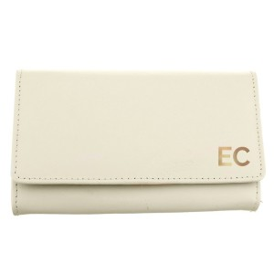 Personalised Gold Initials Cream Purse