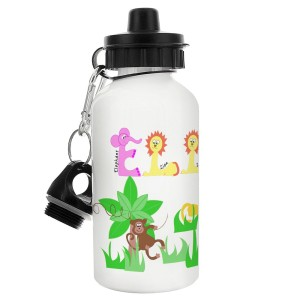 Personalised Pink Animal Alphabet Drinks Bottle
