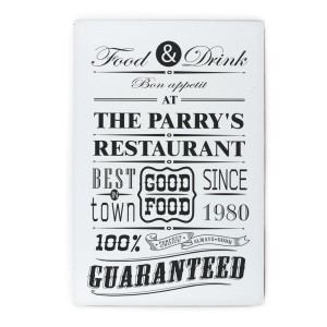 Personalised Food & Drink Restaurant Plaque