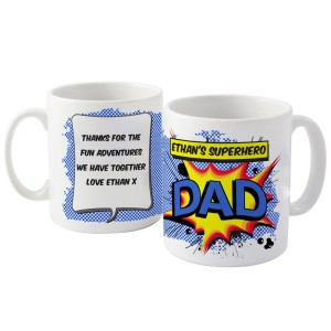 Personalised Super Hero Comic Book Themed Mug
