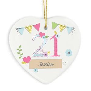 Personalised Birthday Craft Ceramic Heart