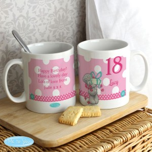 Personalised Me To You Birthday Big Age Female Mug
