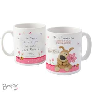 Personalised Boofle Flowers Mug