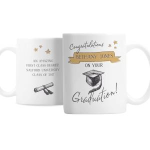 Personalised Gold Star Graduation Mug