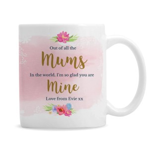 Personalised Floral Watercolour Mug