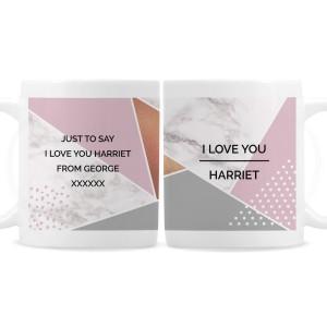 Personalised Geometric Mug
