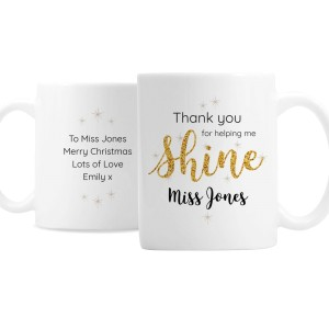 Personalised Shine Teacher Mug