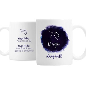 Personalised Virgo Zodiac Star Sign Mug (August 23rd - September 22nd)