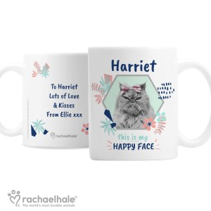"Personalised Rachael Hale ""Happy Face"" Cat Mug"