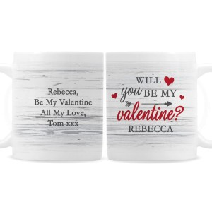 Personalised Be My Valentine Mug