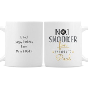 Personalised No.1 Snooker Fan Mug