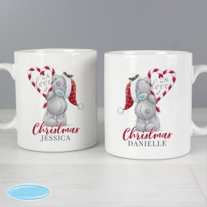 "Personalised Me To You ""With Love At Christmas"" Couples Mug Set"