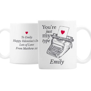 Personalised Just My Type Valentines Mug