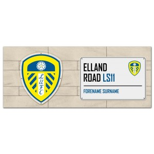 Leeds United FC Street Sign Mug