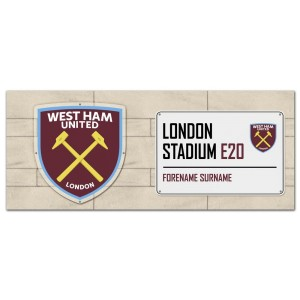 West Ham United FC Street Sign Mug