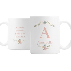 Personalised Floral Bouquet Mug