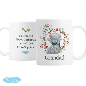 "Personalised Me to You ""For, Grandad, Dad"" Christmas Mug"